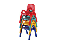 plastic steel frame kids study chair