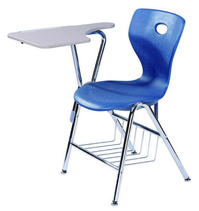 plastic chair with writing pad
