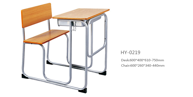 school desk with attaches