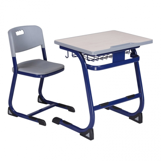 Wooden top School Desk with PU injection edge