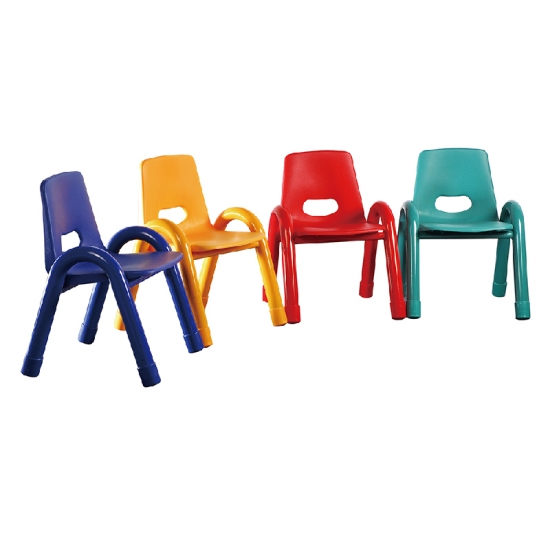 Colors plastic  steel frame kids study chair