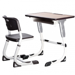 Aluminum alloy frame student table and chair