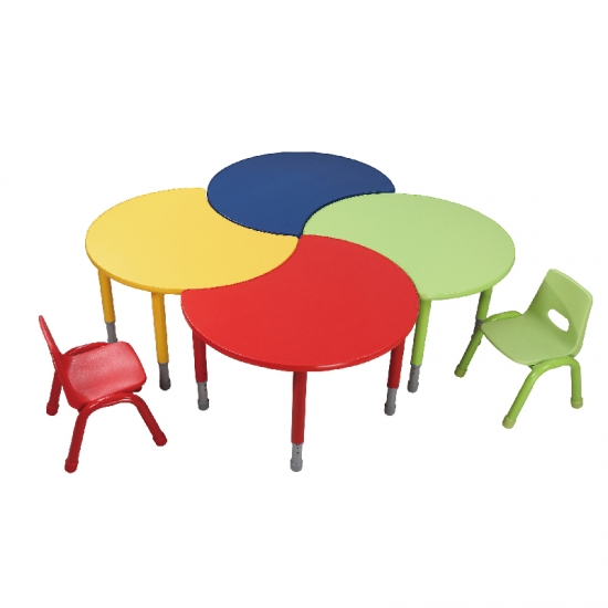 Colorful wooden matel edjustable kids study table