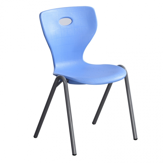 Modern blue plastic stacking chairs for school