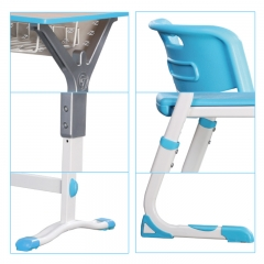 Height adjustable classroom student desk and chair for high grade school