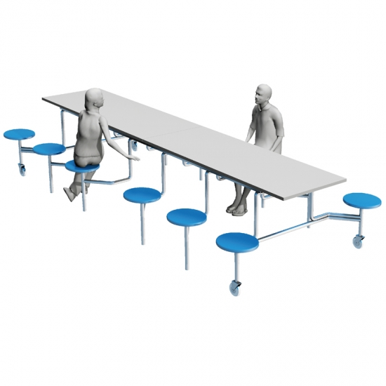 School Restaurant removable Student Dining Table