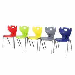 Colorful school classroom plastic stackable chairs