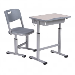 Height Adjustable school single student desk and chair