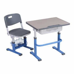 Wooden top height adjustable classroom table and chair