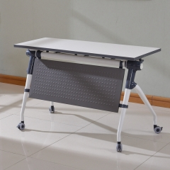 Folding removable wooden school desk space save