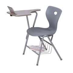 College Plastic School Chair with writing pad for students