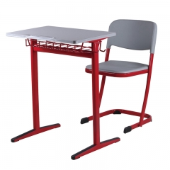 Old school furniture red classroom desk for sale
