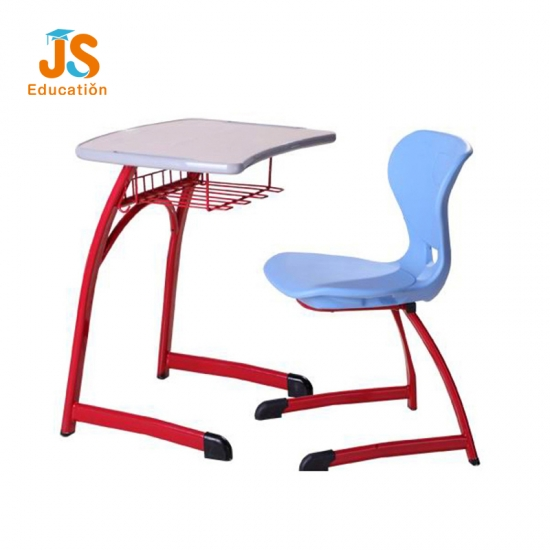 Red Frame School Student Desk with MDF Top