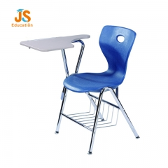 classroom chair with writing pad