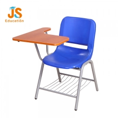 Plastic school writing chair with tablet