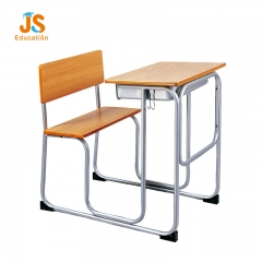 school table with attached