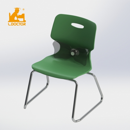 New design Price of school chair with backrest