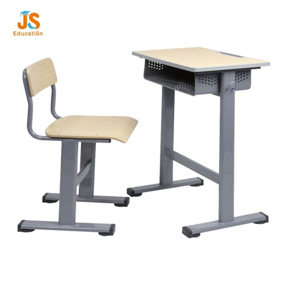 Single classroom desk and chair for middle school furniture