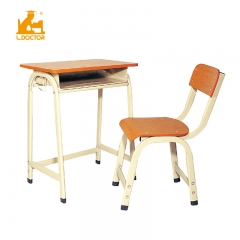 Plywood school desk with steel