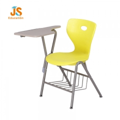 School Plastic classroom chair with writing pad