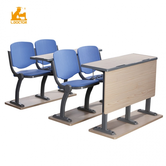 College Metal Ladder classroom desk and chair