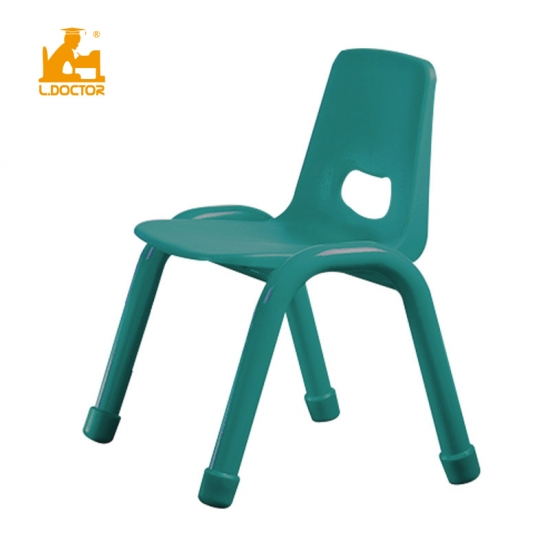 Plastic metal kindergarten chair for children