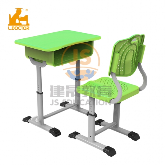 2019 New design adjustable plastic school desk and chair