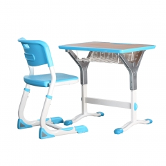 Adjustable high quality shcool furniture desk for primay children