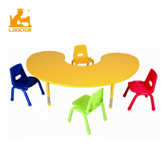 Kindergarten children furniture set height adjustable desk