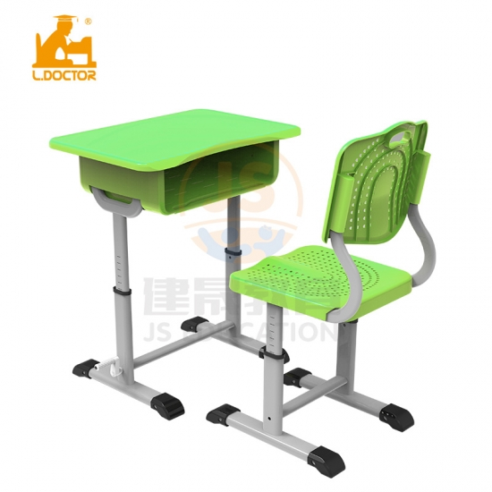 PP Student desk adjustable primary classroom furniture material