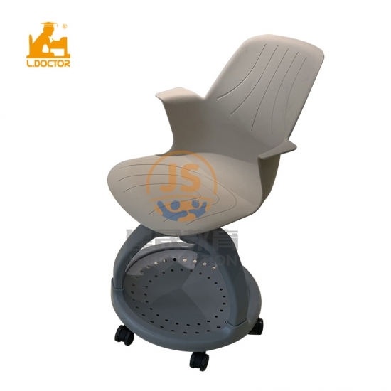 Multifunction pp plastic school node chair for training