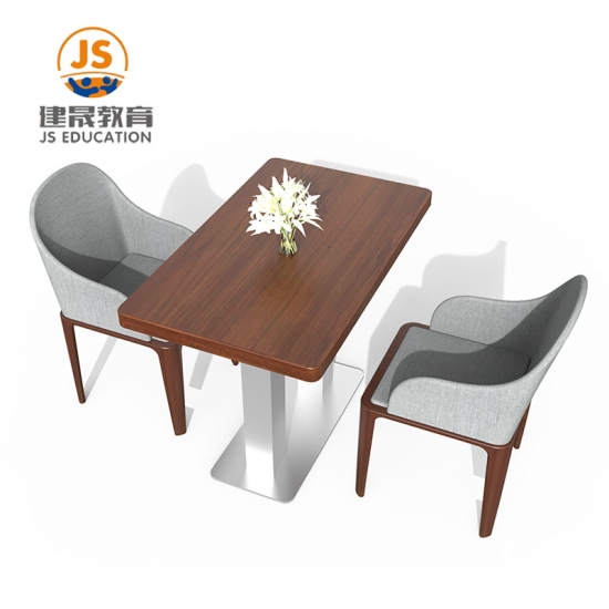 High Quality School teacher canteen Wooden Dining Table and Chair