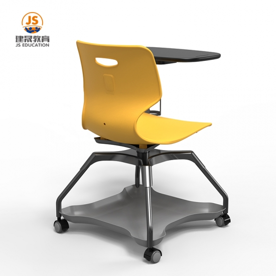 Plastic PP metal Frame school writing chair with tablet