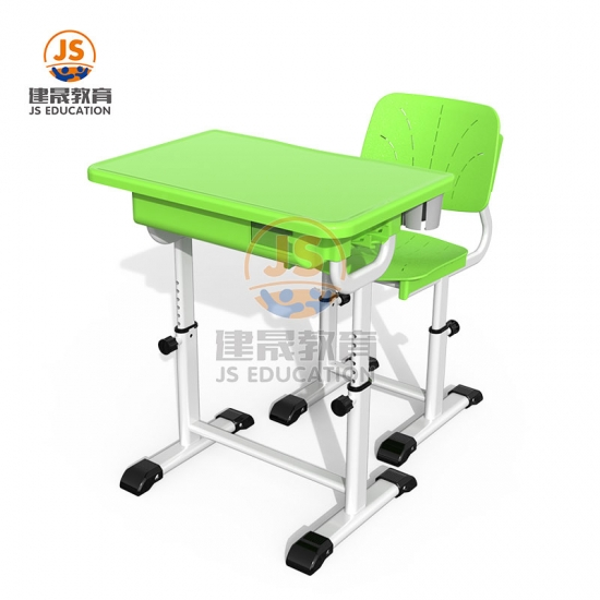 Plastic High primary height adjustable student furniture desk and chair