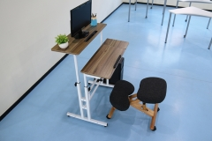 Mobile Table Fancasa Movable Portable Adjustable Notebook Computer Stand with Wheels