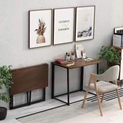 Folding No-Assembly Small Computer Desk Home Office Desk Foldable Table Study Writing Desk Workstation for Small Space