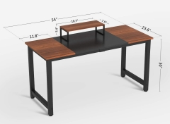 Strong Study Writing Table with Wood and Metal Modern Simple Style Computer Desk