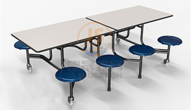 school cafeteria student canteen moving folding dining table